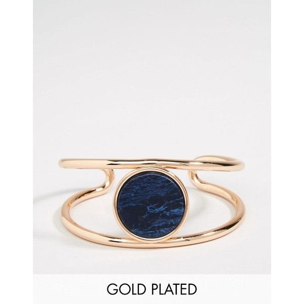 Pilgrim Gold Plated Ajustable Cuff Bracelet With Stone ($23) ❤ liked on Polyvore featuring jewelry, bracelets, gold, cuff bangle, stone bangles, hinged cuff bracelet, gold plated cuff bracelet and pilgrim jewellery