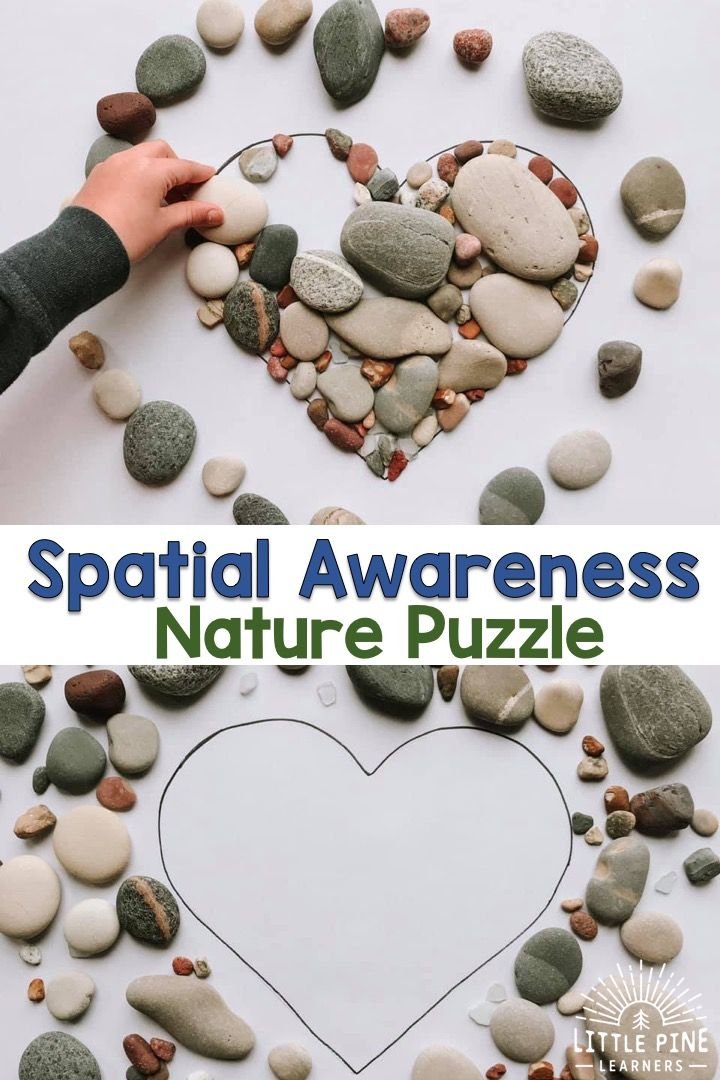 Work On Spacial Awareness With This Simple Nature Shape Puzzle Little Pine Learners Nature School Forest School Activities Activities For Kids