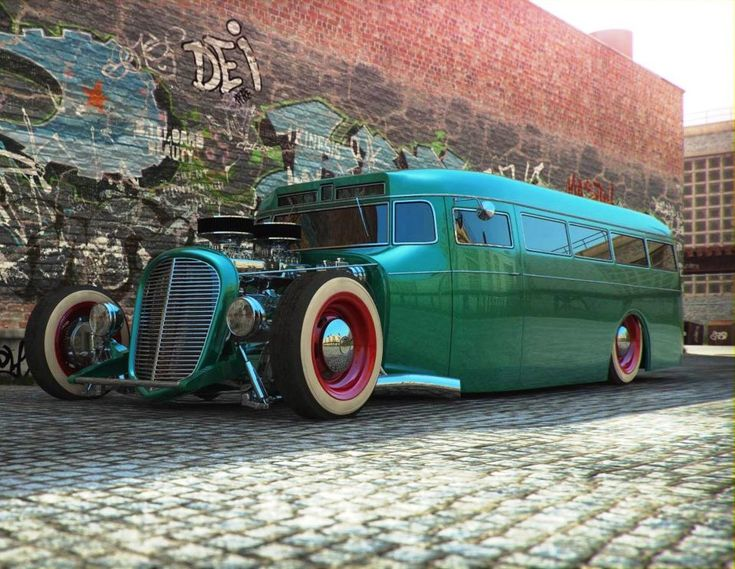 Hot Rod Bus - it'll change your mind about going to school.