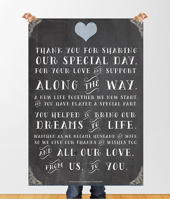 Thank You Sign For Wedding Gift Table : thank you on Pinterest Wedding thank you cards, Wedding thank you ...