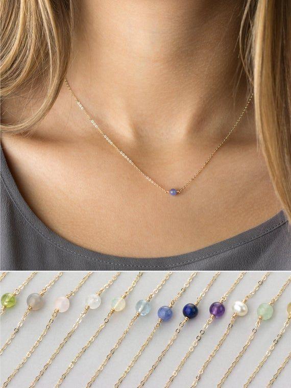 Brilliant Bijou Sterling Silver w//14k Garnet Necklace 18 inches