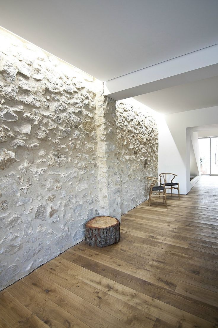 how to clean a stone wall interior