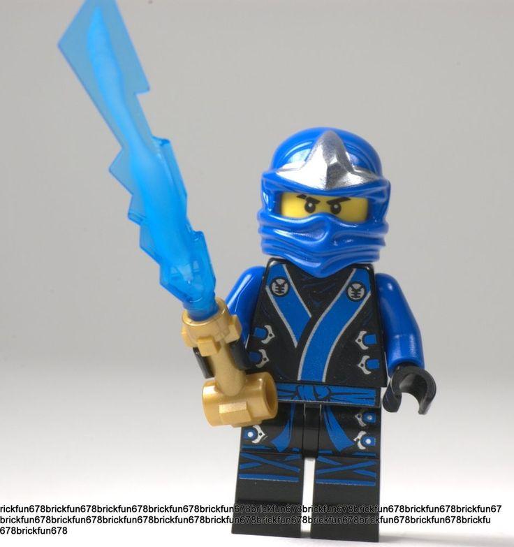 Lego New Ninjago Blue Ninja Jay Kimono Minifigure W Elemental Sword