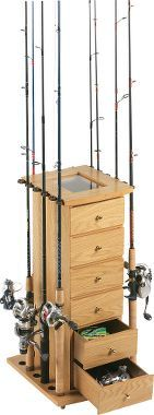 Rod rack -with this I can live with the fishing gear in the cabin.