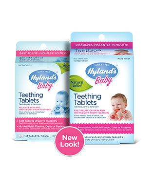 Hylands Teething Tablets. These are amazing, especially at night. Use instead of Tylenol which has been linked to asthma.