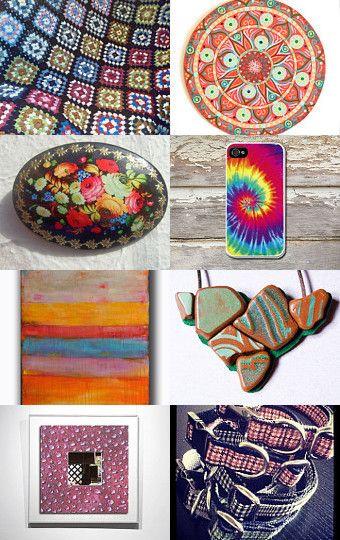 Colorful world by @Bynadialab on@etsy  @etsyitaliateam  #rainbow #accessories #handmade #geometric --Pinned with TreasuryPin.com