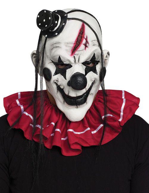 hallow clowns   Horror Clown Halloween Maske weiss-schwarz