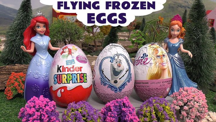 Flying Frozen Elsa Surprise Eggs Huevo Kinder Sorpresa Play Doh Princess... Flying Frozen Queen Elsa hovers over the train layout where James collects surprise eggs and takes them to Princess Anna and Princess Ariel to open. #frozen   #elsa   #princess   #disney   #thomasandfriends   #surpriseeggs   #barbie   #hellokitty   #mermaid   #kinder   #toys   #elsatoy