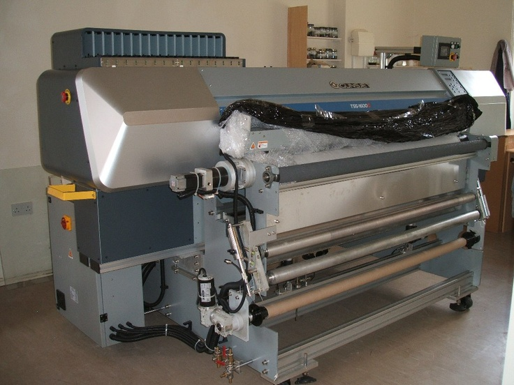 Our new digital textile printing machine