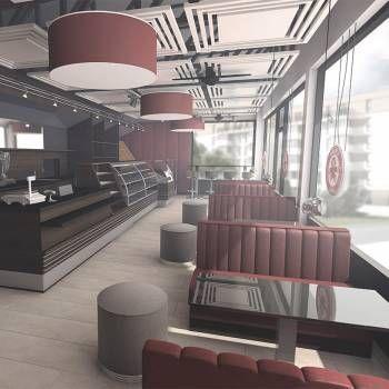 Artpin - Aranżacja wnętrza kawiarni Małpka Cafe