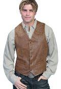 mens western vest, western vest for men, suede western vest, scully vest, scully mens vest, fringe western vest, western fringe vest, leather western vest