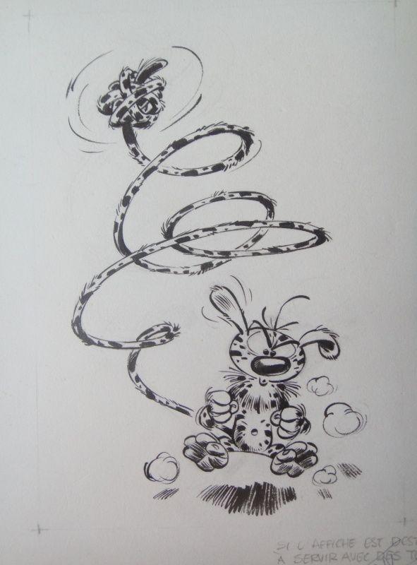 1964 - Marsupilami : poster Boutique Spirou by André Franquin - Illustration
