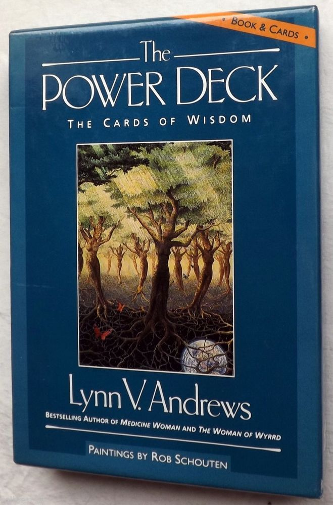 The Power Deck Cards of Wisdom Book Cards Lynn V Andrews New Age Healing Women