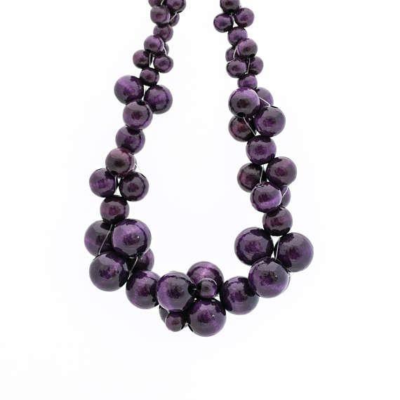 MoleCOOLs Purple wooden necklace