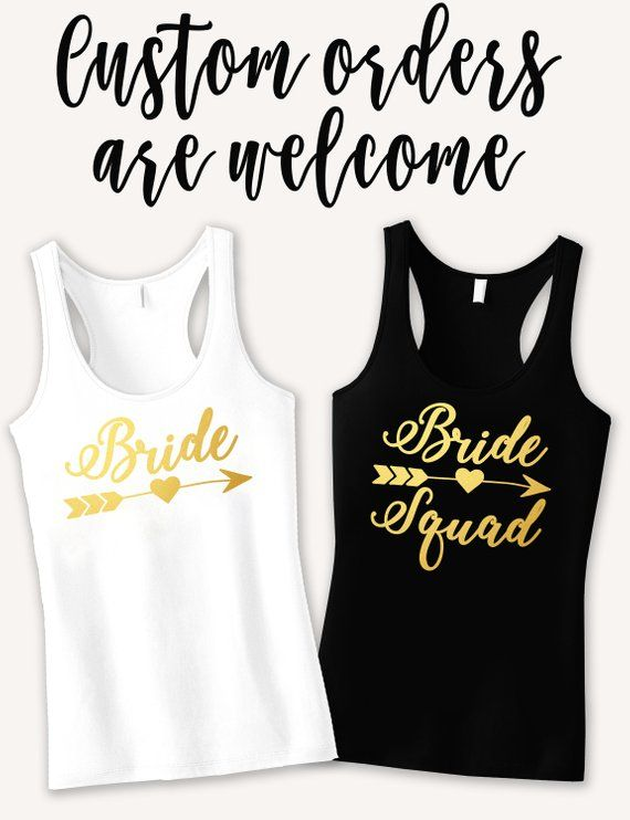 876c76631e5 Bride Squad Bachelorette Party Tank Top
