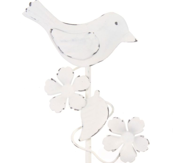 white bird and flower wall hook pretty wall hook with bird and flowers great for