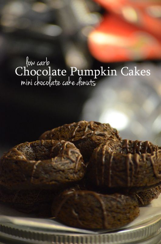 Chocolate Pumpkin Cakes Shared on https://www.facebook.com/LowCarbZen