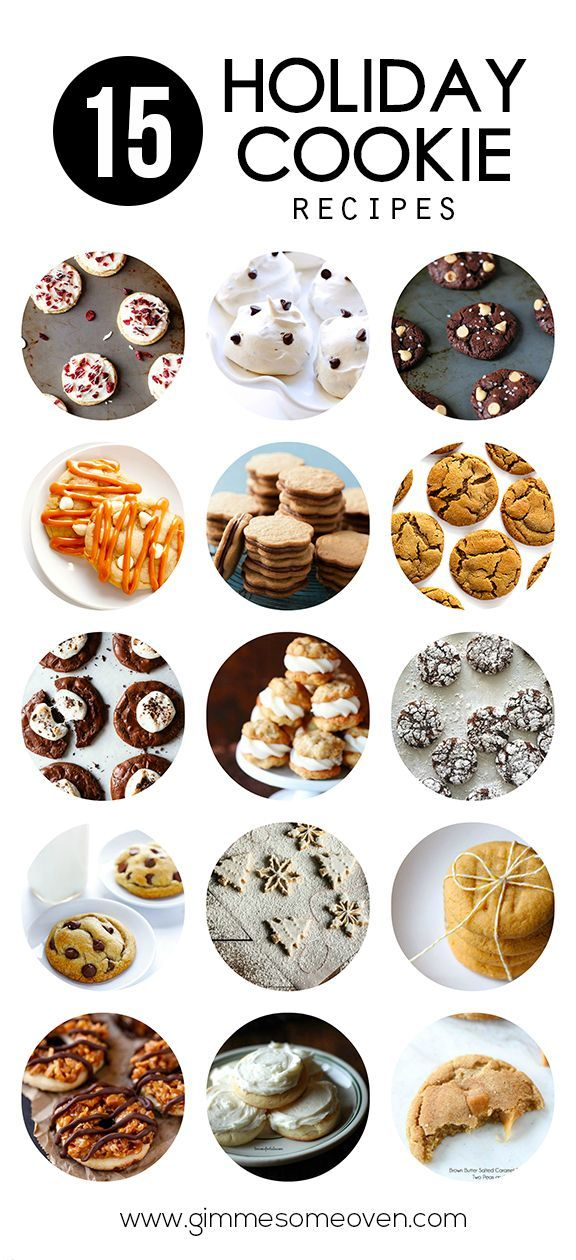 15 Holiday Cookie Recipes -- a delicious collection of crowd-pleasing recipes from food bloggers | gimmesomeoven.com