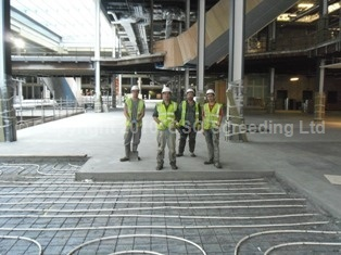 First Installation of Floor Screed Completed at Westfield Shopping Centre, Stratford City.