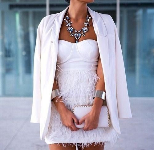 White on white! Love the necklace as well!!!  Exclusive handmade fashion jewelry: https://www.etsy.com/shop/GlowFashionJewellery https://www.facebook.com/glowfashion.gr glowfashionkz@gmail.com
