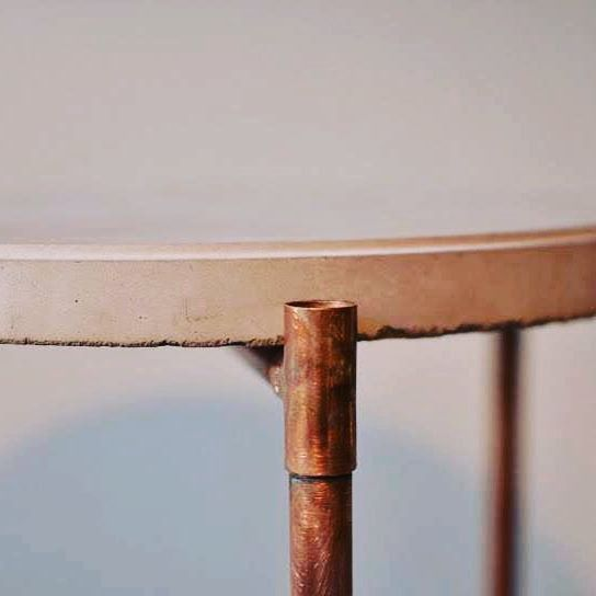 #roundtable #jmonier #custom #handmade #interiordesign #copper #concretedesign #concretetable