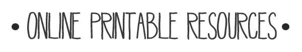 online printable resources