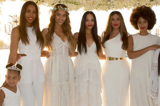 Kelly, Beyonce, Bianca, Tina, and Solange look stunning, but little Blue takes the cake (as usual).