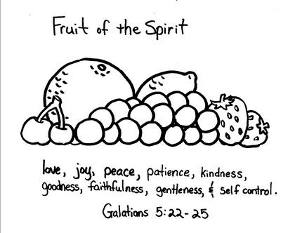 Fruit Of The Spirit Sunday School