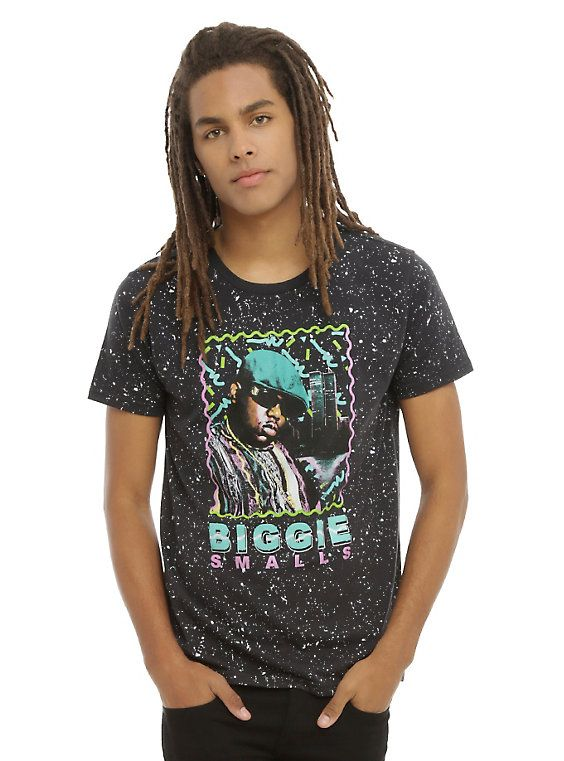 The Notorious B.I.G. Biggie Smalls Retro Splatter T-Shirt, BLACK