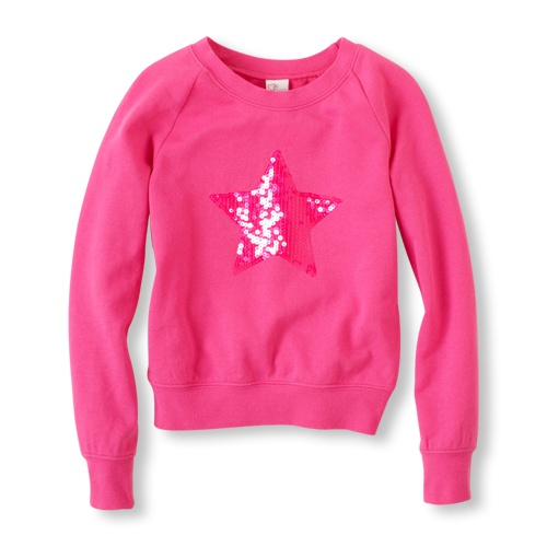 Sequin Icon Sweatshirt / the children's place