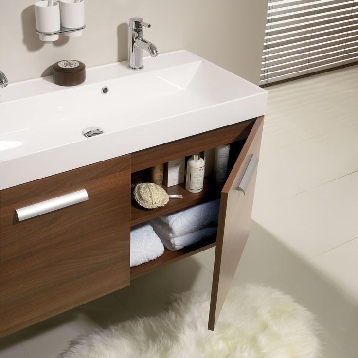 shades bathroom furniture uk%0A Design Walnut Bathroom Furniture Unit  u     Basin from Crosswater  http   www bauhaus
