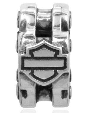 Harley-Davidson® Sterling Silver Bike Chain with Bar & Shield Ride Bead. HDD0053 Harley-Davidson. $43.95. Bike Chain with Bar & Shield Ride Bead. .925 Sterling Silver