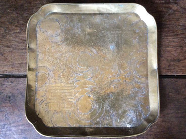 Vintage Asian dragon serving tray circa 1940's / Damaged Purchase in store here http://www.europeanvintageemporium.com/product/vintage-asian-dragon-serving-tray-circa-1940s-damaged/