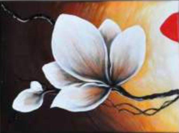 Quadro de Flores - Pintura acrilica/Tela