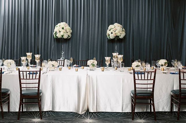 All Eyes Were On The Bride Groom As Elegant Arrangements Of Lush Florals By Flowersbykh Framed Their Seats At Wedding Wedding Table Centerpiece Decorations
