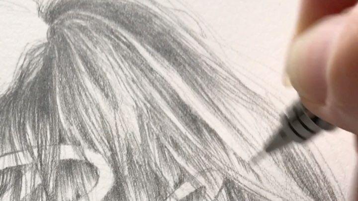 "52 likerklikk, 2 kommentarer – Birgithe Cecilie Solstrand (@birgithesolstrand) på Instagram: ""I made a little video of me drawing hair for a poster I've been working on  This is at double…"""