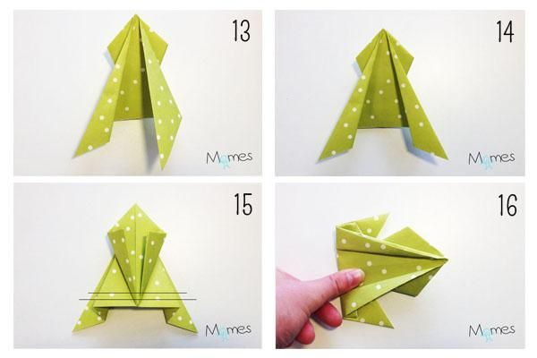 Les 18 meilleures images du tableau origami sur pinterest cr ations en papier pliage et - Origami grenouille sauteuse pdf ...