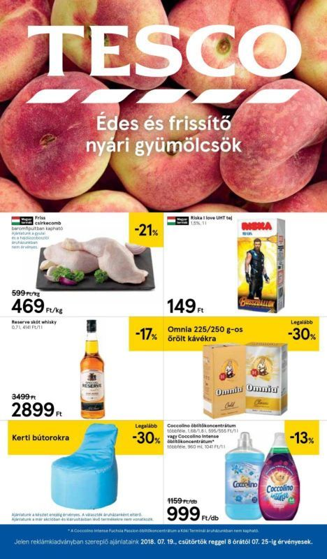 TESCO Akciós Újság 2018. 07.19-07.25-ig  Friss gyümölcsök 84981ceb34