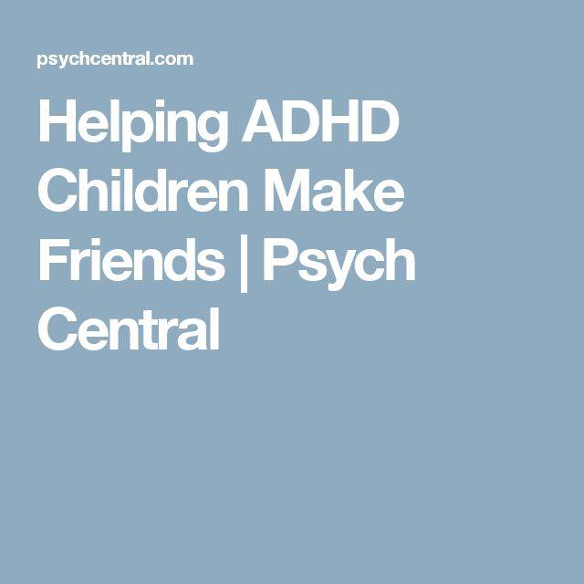 Helping ADHD Children Make Friends | Psych Central