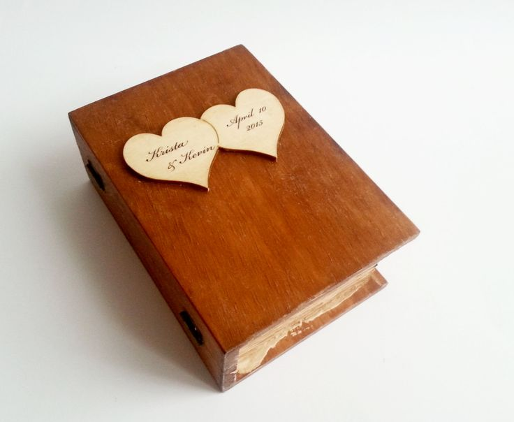 Wedding rings box/engagement ring box book shaped, wedding pillow rustic looking old vintage jute burlap shabby chic - pinned by pin4etsy.com