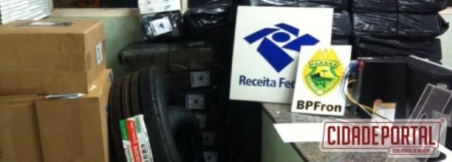 Receita Federal e Polícia Militar apreendem produtos contrabandeados em Foz do Iguaçu