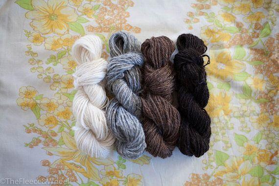 Hand Spun Yarn / Hand Spun Icelandic Wool / Mini Skein Set /