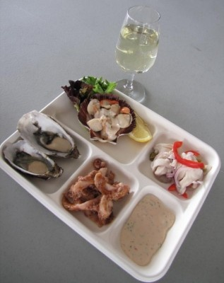 A seafood tasting plate from the Taste Festival in Hobart.