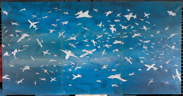 Alighiero Boetti  Aeroplani, 1986 Acquarello su carta