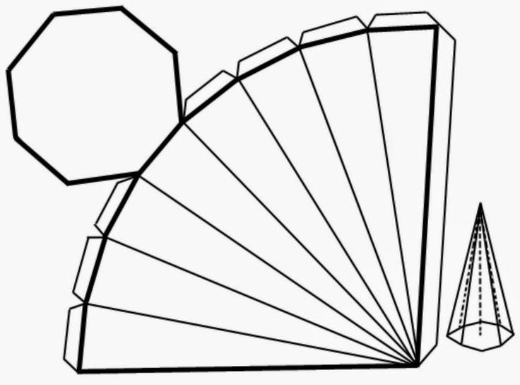 espa u00c7o educar  molde de pir u00e2mide octogonal para imprimir