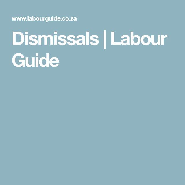 Dismissals | Labour Guide