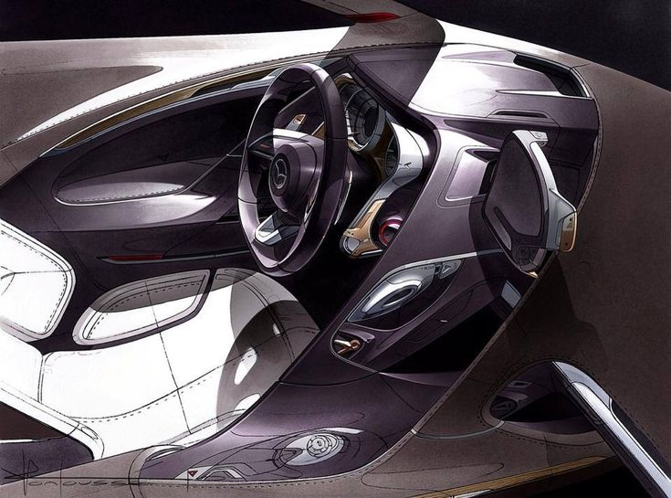 2009 Mazda Shinari Interior Sketch by  Sketch by Julien Montousse