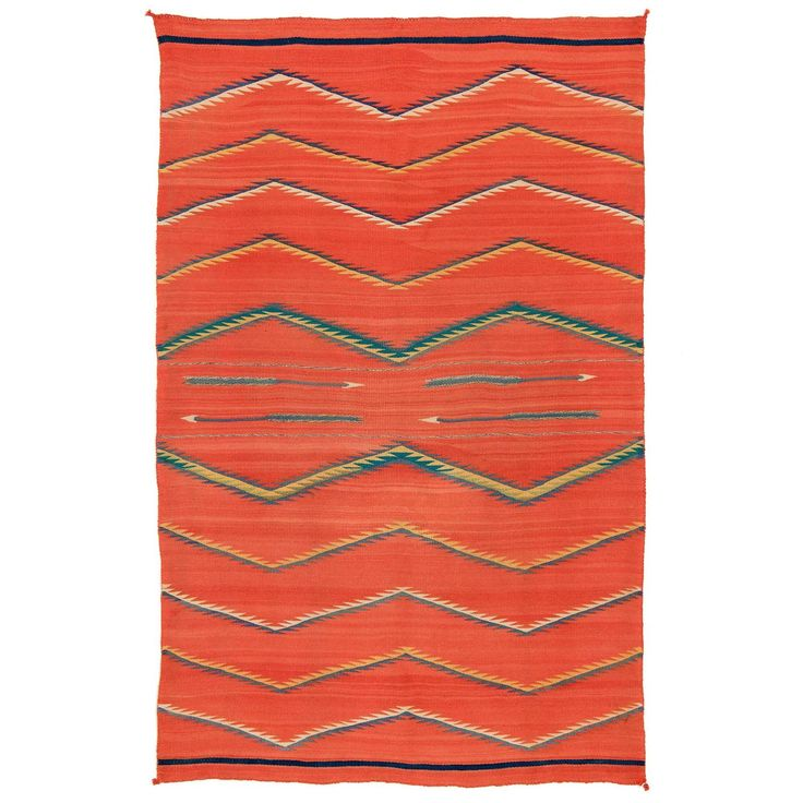 Southwestern Transitional Blanket - Navajo, circa 1875-1900 | From a unique collection of antique and modern native american objects at https://www.1stdibs.com/furniture/folk-art/native-american-objects/