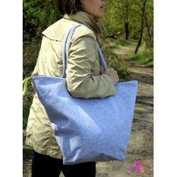 Hudge bag with the waterproof lining. Perfect for big, market shopping.