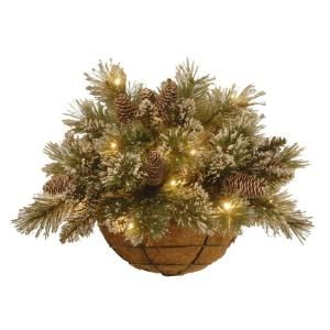 Martha Stewart, 20 in. Unlit Sparkling Pine Half Wall Basket Artificial Decoration with Cones, GB1-809-20HB-1 at The Home Depot - Mobile